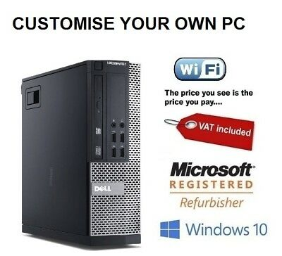 Dell Optiplex ULTRA Fast cheap Desktop Core i7 16GB 2TB 120GB SSD Windows 10 PC