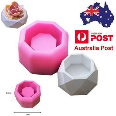 Geometric Flower Pot Silicone Molds Garden Planter Concrete Vase Mould DIY Tool