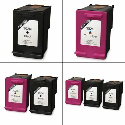Remanufactured HP 302 XL Black and Colour Ink Cartridges - For HP Printers