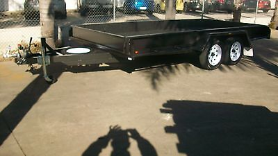 """14x6'6""""  Car Carrier Tandem Trailer with Tailgates"""