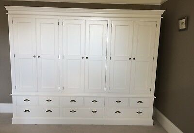 Painted 6 Door Wardrobe - Edwardian Style with 9 drawers