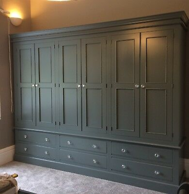 Painted 6 Door Wardrobe - Edwardian Style with 6 large drawers