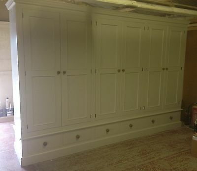 Painted 6 Door Wardrobe - Edwardian Style with 6 small drawers