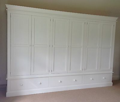 Painted 6 Door Wardrobe - Edwardian Style with 3 drawers