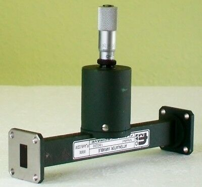 FMI FLANN MICROWAVE WR62 12-18 ghz microwave calibrated  ATTENUATOR 30 db
