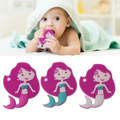 Mermaid Baby Teethers Pendant Necklace Accessory BPA Free Silicone Chew Toys
