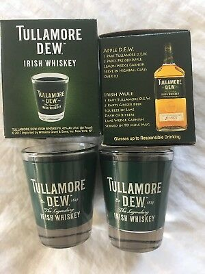 2 Tullamore Dew Irish Whiskey Shot Glasses!