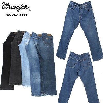 Vintage Wrangler Men's Classic Regular Fit Stretch Jeans 26 in. to 44 in.