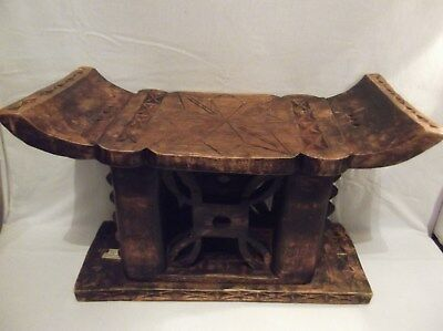 Carved Wooden African Stool~Hand Crafted in Ghana
