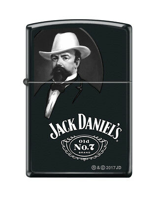 "Zippo ""Jack Daniels"" Old No. 7 Lighter, Founder, Black Matte Finish, 5484"