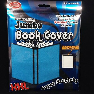 "Jumbo Book Cover Light Blue It""s Academic Premium Edition XXL Stretch Fabric"
