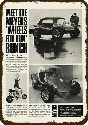1969 MEYERS MANX TOW'D DUNE BUGGY Vintage Look REPLICA METAL SIGN  LYNX MINIBIKE
