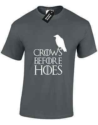 Crows Before Hoes Mens T Shirt Got Parody Nights Watch Castle Black Hodor Wolf
