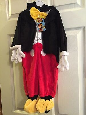 NWT~ Infant Boys 6-9 Month Disney Mickey Roadster Racer Deluxe Halloween Costume