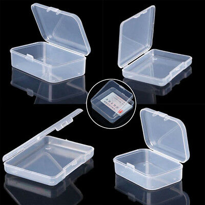 Transparent Plastic Storage Box Cards Case Business Card Holder Mini Card Boxes