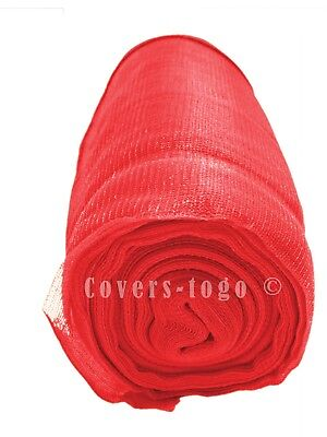 Red Debris Netting 2M X 50M  Scaffolds Garden Allotments Net 70Gsm Windbreak