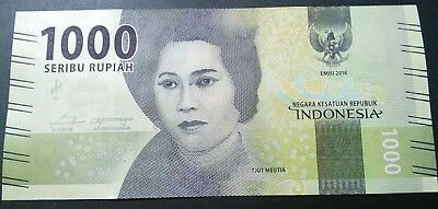 1000 Indonesia Seribu Rupiah Indonesian Currency UNC $1000 Bills Tjut Meutia New