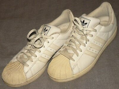 4cac49bfe3 netherlands vtg adidas superstar ii mens 11.5 all white leather shell toe  shoes euc 664818 93cf4