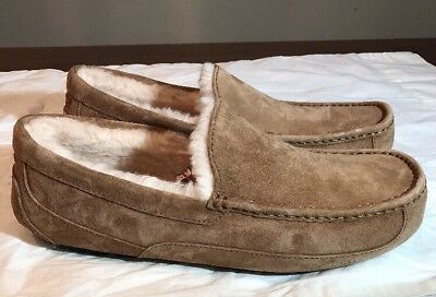 f935d4295ac UGG MEN MOCCASIN SLIPPERS ASCOT TWEED STOUT 1005347 - Size 7, 8, 9 ...