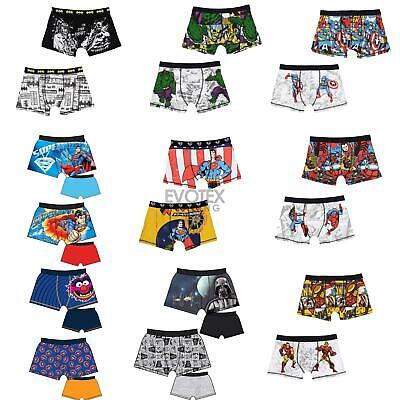 Mens Official Character Trunks Boxer Shorts Boxers Underwear 2 Pack Size S-XL