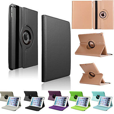 Leather 360 Rotating Smart Stand Case Cover For APPLE iPad2/3/4 Air 1/2 Mini Pro
