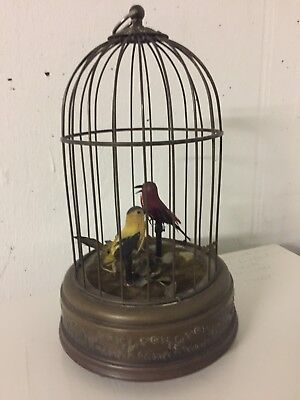 Reuge Swiss Singing Automaton Bird Cage Music Box