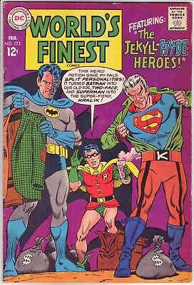 DC Comics, WORLD'S FINEST - BATMAN & SUPERMAN Comic Book, Issue #173, Feb 1968