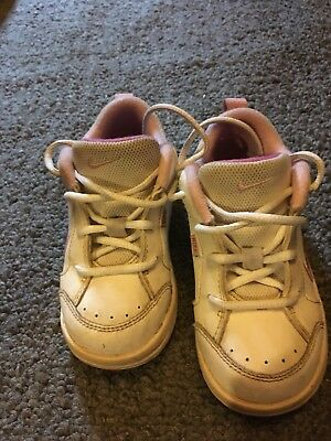 7555128864ae Nike Baby Girl Toddler Leather Sport Sneakers Size 8c