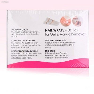 50-Sheets/Pack Cotton Wrap For Nail UV Gel Art Soak Off Remover Pad Tool E0F6D35