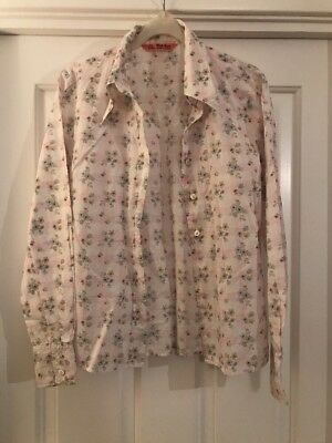 36a6f67ac2c02 Marilyn Moore With Love Summer Floral Blouse Shirt Size UK 10