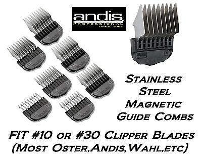 ANDIS MAGNETIC STAINLESS STEEL Blade ATTACHMENT COMB*Fit MANY Oster,Wahl Clipper