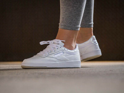 e32675de6d0f Womens Reebok Club C 85 Lace White Leather Reebok Classics New Authentic