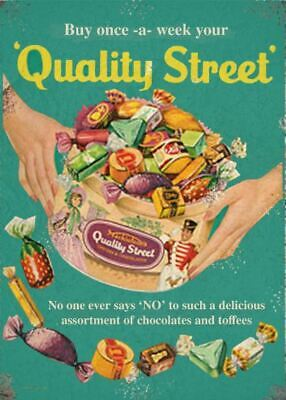 Quality Street Classic Advertising Metal Vintage Sign Outdoor Garden Plaque