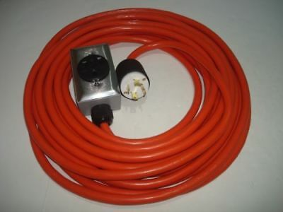 Welder Extension Cord 10 Feet 240V L14-30 P, 6-50 R, Connect Welding M To Genert