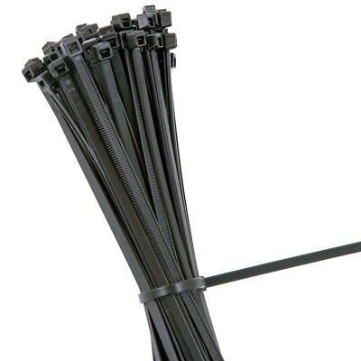 BLACK STRONG QUALITY NYLON CABLE TIES ZIP WRAPS  - Small Medium Large UK