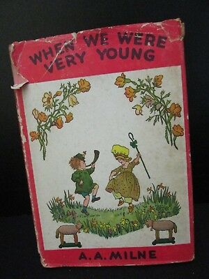 Vintage Childrens Book When We Were Very Young A. A. Milne 1950 DJ