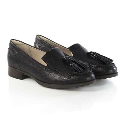 new clarks womens shoes busby lola black leather size 6 uk fit D