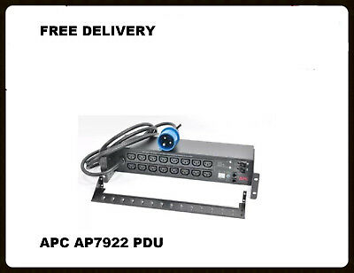 New In Box APC AP7922 Rackmount Power Distribution Unit PDU, Switched 2U 32A, 23