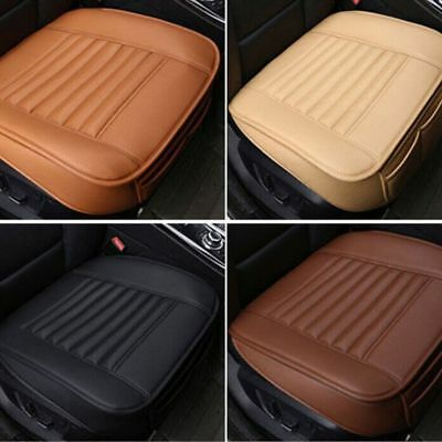 PU Leather Mat Breathable Pad Bamboo Charcoal Cushion Car Front Seats Cover