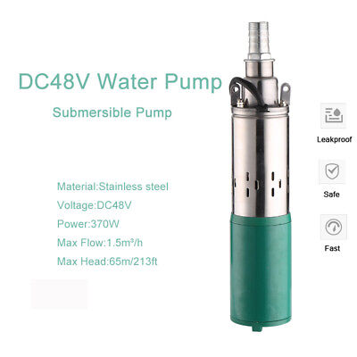Deep Well 1320.8GPH Brushless Submersible Pump 528W DC 48V 98.4FT Max Lift