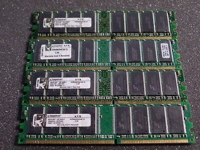 KINGSTON KVR400X64C3A/1G PC3200 DDR-400 DDR1 RAM 4GB ( 4x 1GB ) #K3-4 <