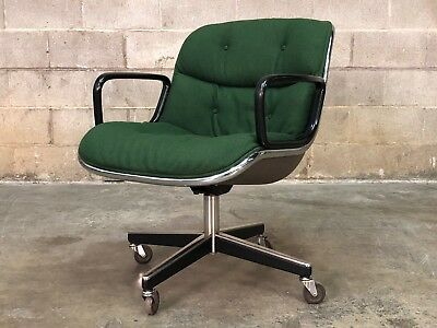 Kelly Green Charles Pollock For Knoll Mid Century Modern Desk / Office Chair