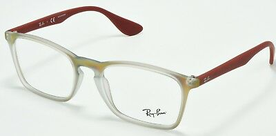 e54f2d069c Ray Ban RB7045 5485 RX Optical Eyeglasses Clear Red Frame demo Lens 53-18