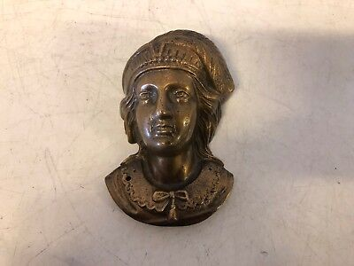 Vintage Possibly Antique Bronze European Man Head Bust