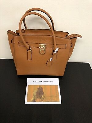 ee934db41b1d Nwt Michael Kors Hamilton Tangerine North South Leather Tote Msrp $348.00  #511