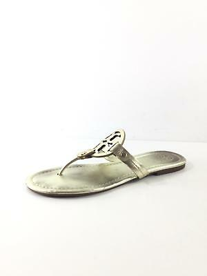 81106370d10c 1662 Tory Burch Miller Sparkle Gold Leather Thong Sandals Women Size 8.5 M