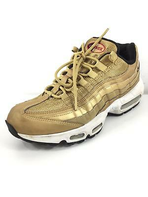 best loved 1c655 ca2ec 714 NIKE AIR Max 97 OG Gold Mesh / Leather Sneakers Women Size 10