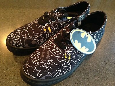7c93d75e22b5 NEW BATMAN Canvas Boom Lace up Shoes Size 7 MENS BioWorld DC Comics WOMENS 9