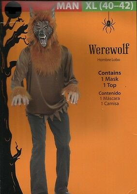 Adult Scary Werewolf Halloween Costume Mens XL 40 - 42 ~ FREE SHIPPING