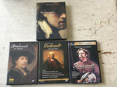 Rembrandt art book and DVD lot